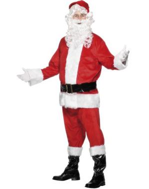 Julenissen Fløyel Kostyme Voksen
