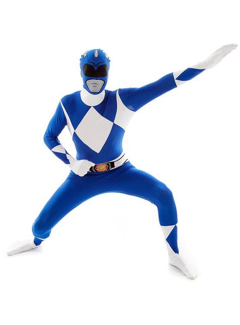 Morphsuit blå Power Ranger kostyme voksen