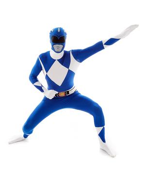 ブルーパワーレンジャーアダルトコスチュームモーフスーツ