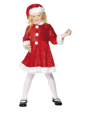 Gorgeous Mrs Claus Kids Costume