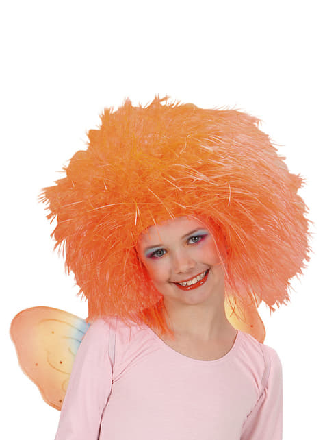Girl's Orange Fairy Wig