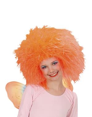 Parrucca da fata arancione per bambina