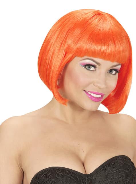 Peluca naranja brillante para mujer - para tu disfraz