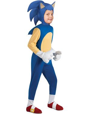 Costum Sonic deluxe pentru băiat