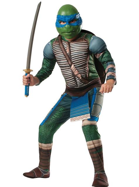 Leonardo Ninja Turtles Movie muscly costume for a boy