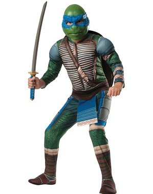 Leonardo Ninja Turtles film muskulært kostyme for gutt