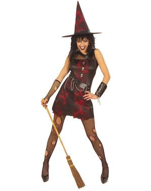Costum de vrăjitoare punk pentru femeie