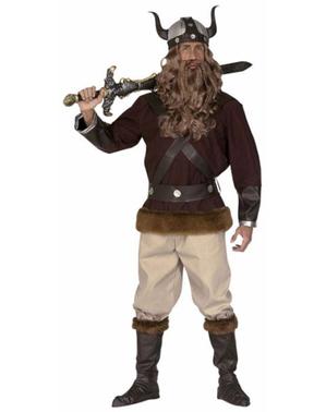 Vikingkriger Kostyme til Menn