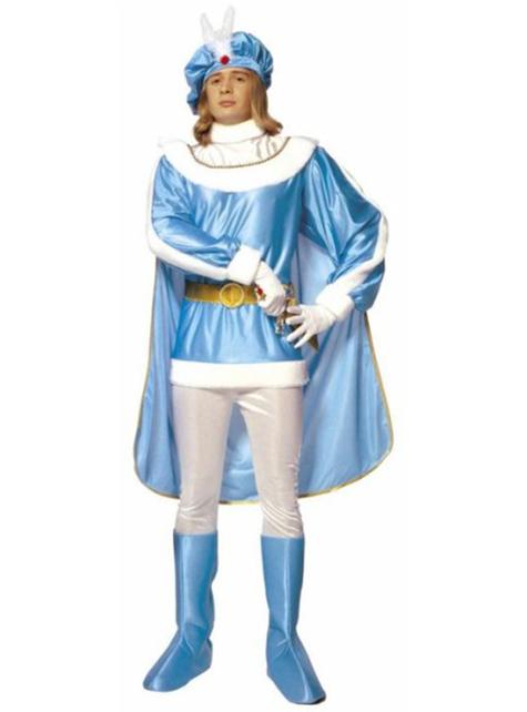 男のための青い王子衣装