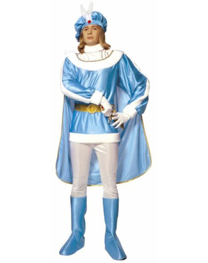 Blåt prinsekostume til mænd