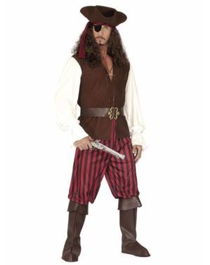 Fato de pirata de alta mar para homem