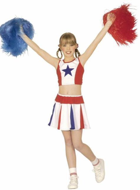 Amerikanische Cheerleader Kostüm für Mädchen