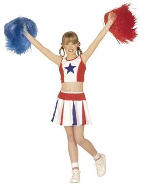 Amerikkalainen Cheerleader -asu tytöille