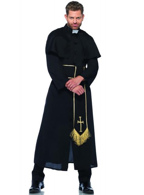 Таинственный костюм священника для мужчины