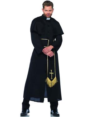 Disfraz de cura misterioso para hombre