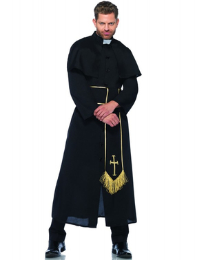 Mysterious priest costume for a man