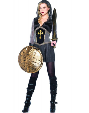 Joan of Arc warrior costume for a woman