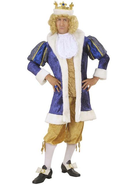 Disfraz de rey lujoso para hombre talla grande