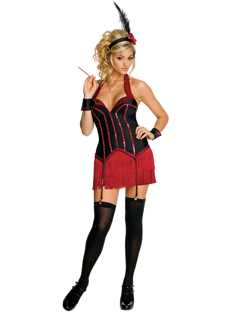 Playboy flapper girl costume for a woman