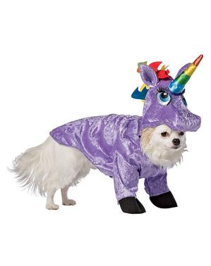 Costum de unicorn pentru cățel