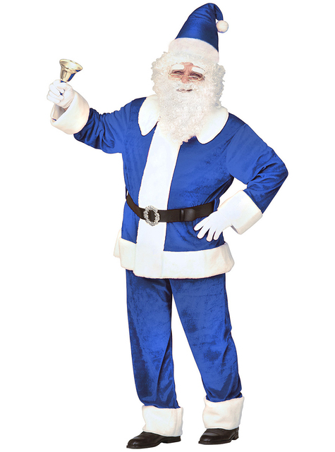 Traditional blue Santa Claus costume for men