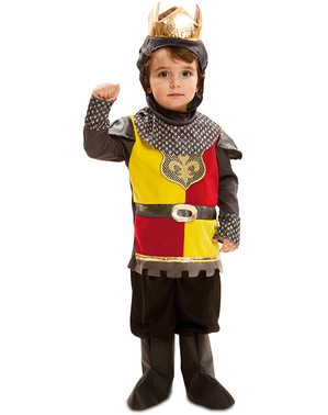 Fato de rei batalhador para menino
