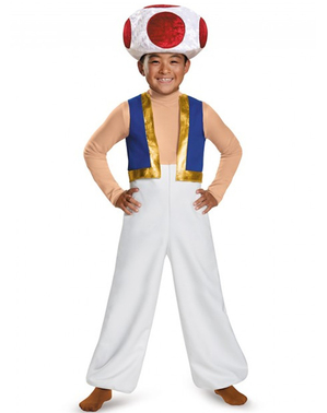 Boy's Deluxe Toad Super Mario Costume