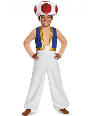 Toad Super Mario deluxe kostuum voor kinderen