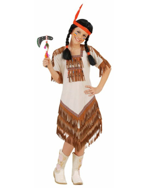 Disfarce de índia americana para menina