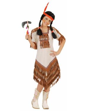 Disfraz de india americana para niña