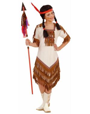 Amerikanische Indianerin Kostüm für Mädchen