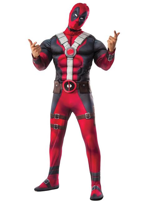Fato de Deadpool musculoso para adulto