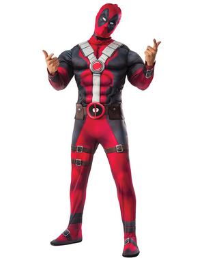 Maskeraddräkt Deadpool muskulös för vuxen
