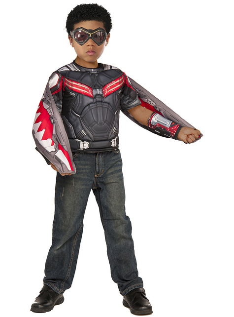 Kit disfraz de Falcon Capitán América Civil War para niño