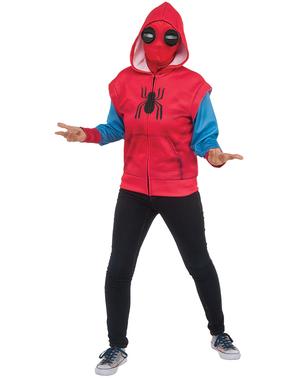 Chlapecká improvizovaná mikina s kapucí pro kostým Spidermana