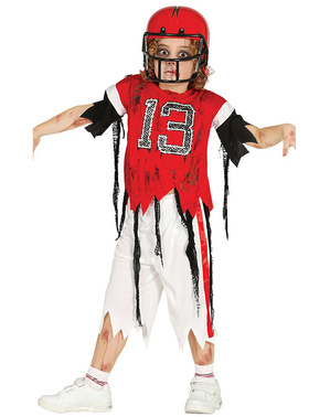 Zombie 13 Quarterback Costume for Kids