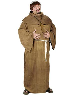 Mittelalterlicher Mönch Kostüm für Herren große Größe