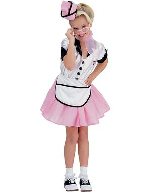 Girl's 1950s Waitress Costume