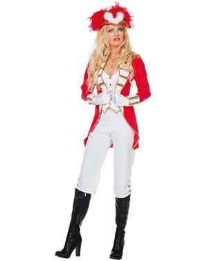 Disfraz de Guardia Real rojo par mujer