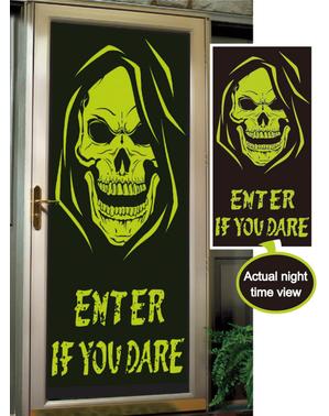 Dörrdekoration Enter if you dare självlysande