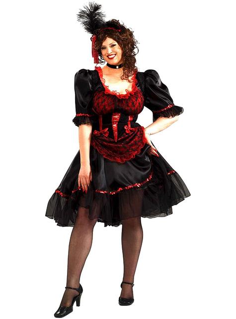 Kostium dziewczyna z salonu duży rozmiar