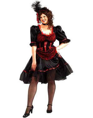 Kostým pro dospělé dívka ze saloonu nadměrná velikost