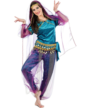Naisten Bollywood Kajol -asu