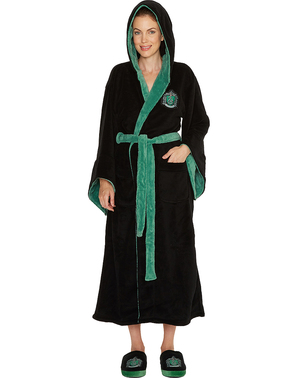 Slytherin Fleece Bathrobe for Women - Harry Potter