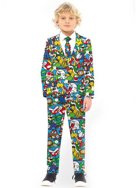 Super Mario Bros Opposuit voor jongens
