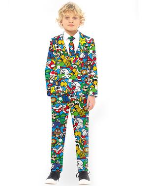 Fato de Super Mario Bros para menino - Opposuits