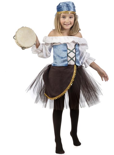 Kostium Amelia Zingara ze spódniczką tutu dla dziewczynki