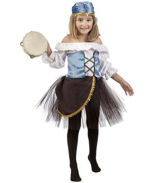 Disfraz de zíngara Amelia con tutú para niña