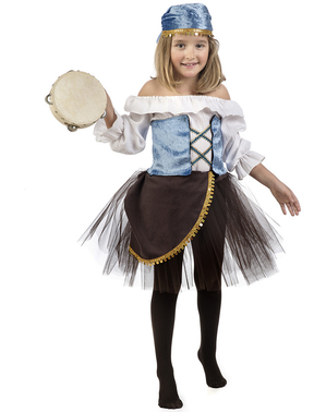 Zigeunerin Amelia mit Tutu Kostüm für Mädchen