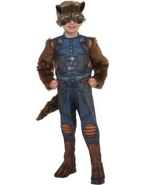 Fato de Rocket Raccoon para menino - Guardiões da Galáxia Vol 2